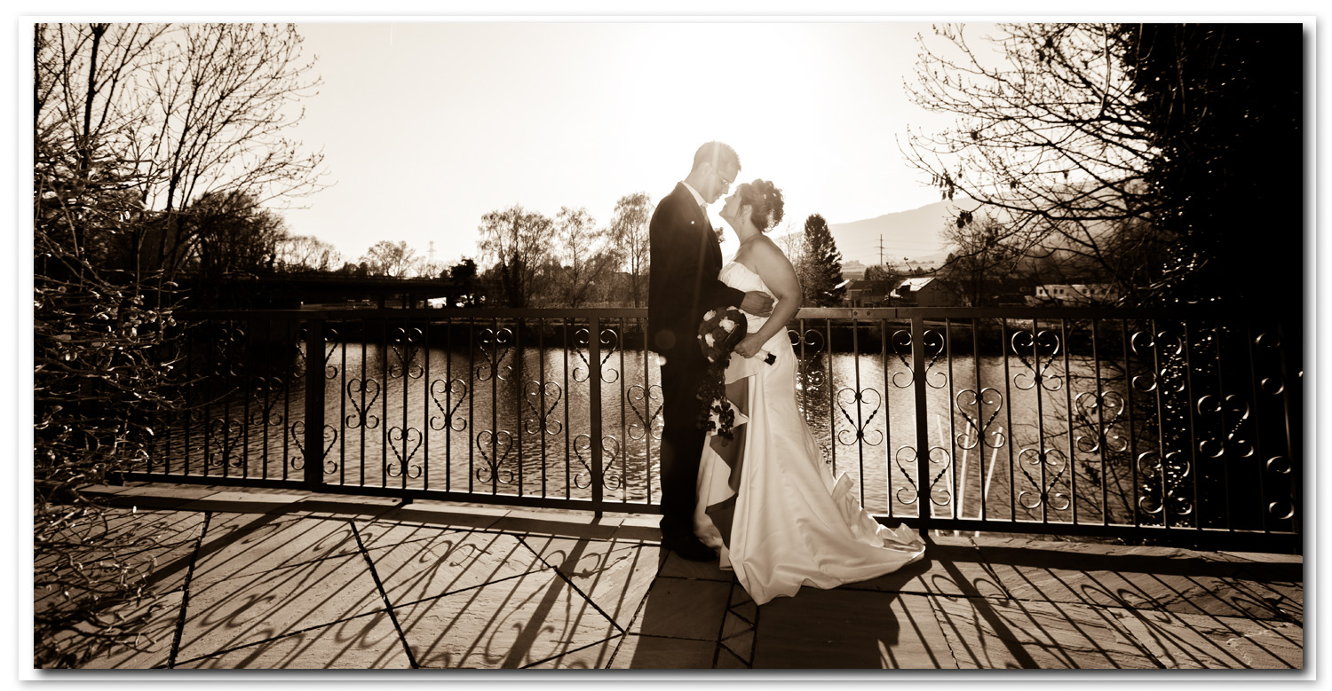 Photo de couple au pont de Thielle