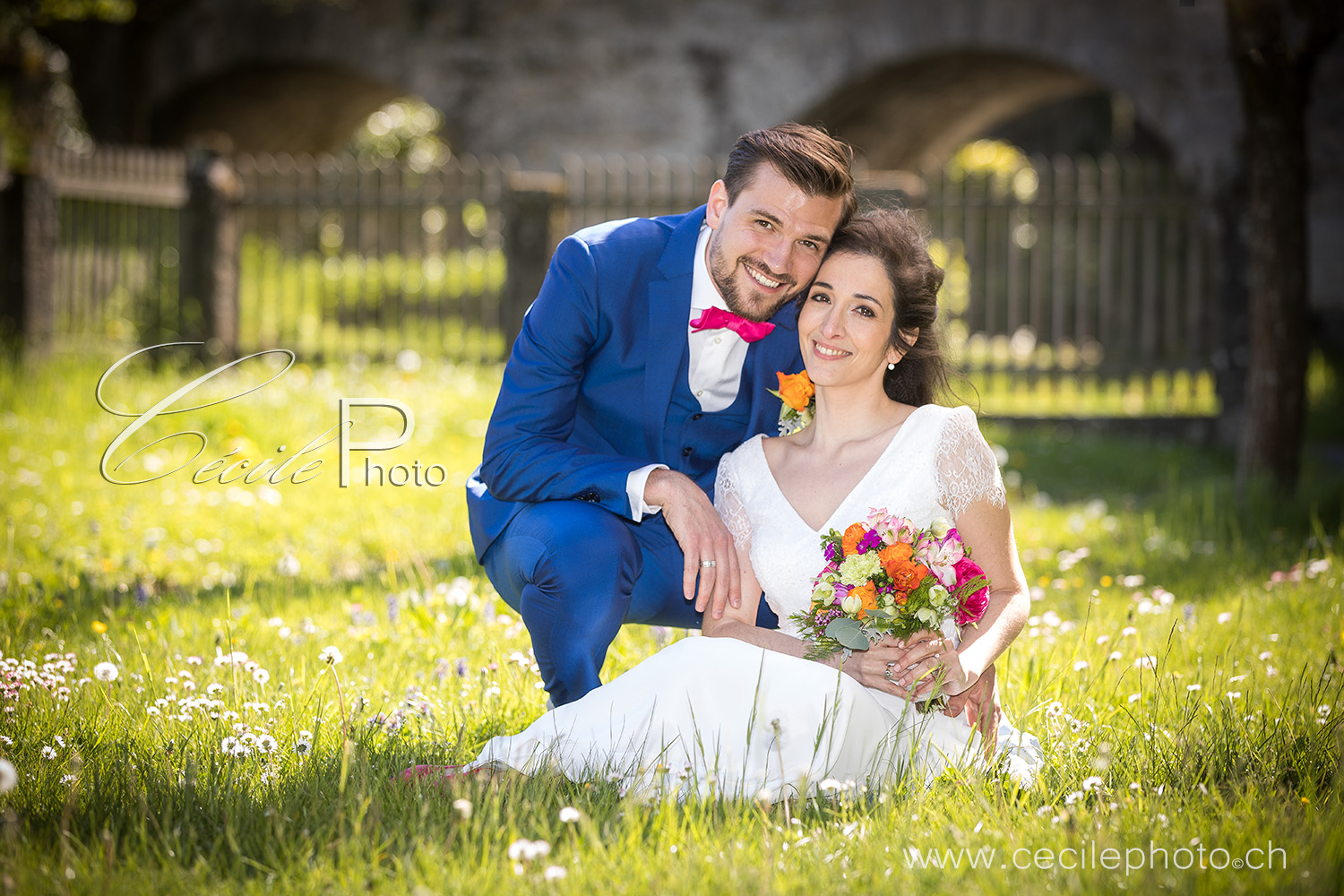 shooting photo mariage à Estavayer au château